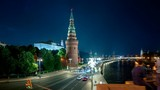 Moscow Kremlin hyper lapse, Embankment and Moscow River, Russia - 220586279