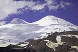 Two peaks of Elbrus - highest mount in Europe
