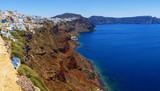 Greece Santorini beautiful panorama of the island slopes of the sea and boats - 220606053