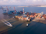 Sea port, ships and containers - 220612067