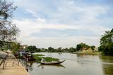 Beautiful photo of a thai asian boat in Ayutthaya ,thailand - 220616070