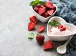 Leinwanddruck Bild - Strawberry ice cream