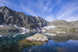 Reflection in the lake Alla-Askir. Altai mountains landscape - 220623440