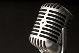 Retro style microphone in party or concert - 220636848