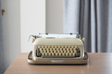 Retro style typewriter in studio - 220637083