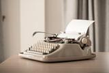 Retro style typewriter in studio - 220637212