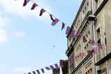 British & English national flag at the restaurant and pub, London - 220637239