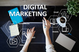 DIgital marketing technology concept. Internet. Online. Search Engine Optimisation. SEO. SMM. Advertising. - 220637252