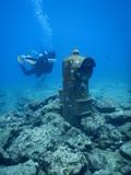 Buzon de correos debajo del mar de Okinawa, Japon