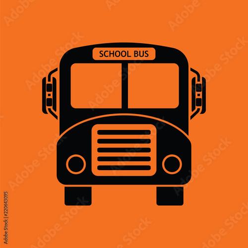 Fototapeta School bus icon