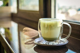 Matcha green tea latte - 220645244