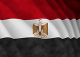 Illustration of a flying Egyptian flag - 220652847