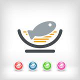 Dish of fish icon - 220653899