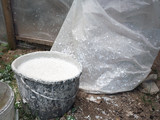 Basket with mixed cement - 220658045