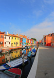 Vivid colors of the houses in Burano  Island near Venice - 220672635