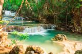 Huay Mae Kamin waterfall National Park, Thailand - 220675276