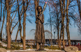 Kiev, Ukraine - soviet iconographies are still very visible in Kiev and Ukraine. Here in particular the Holomodor memorial, dedicated to the famine that killed millions in the 30's - 220678400