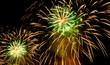 Leinwanddruck Bild - Nice fireworks on the sky