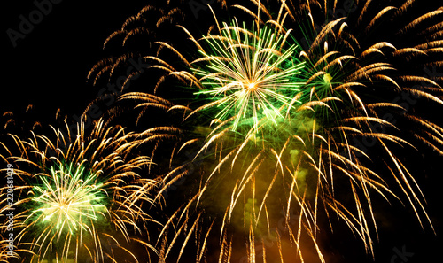 Nice fireworks on the sky - 220681429
