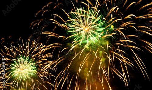 Leinwanddruck Bild Nice fireworks on the sky