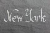New york logo on textile background - 220682474