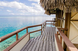 Overwater bungalows, French Polynesia - 220685869