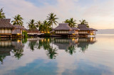 Overwater bungalows, French Polynesia - 220685881