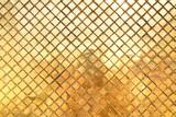 gold texture mosaic or diamond cut shape background - 220686839