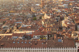 Beautiful view from the bell tower of the Campanella to the Museum Correr and the panorama of the city in Venice, Italy - 220696623