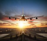 Huge two storeys commercial jetliner taking of runway - 220704034