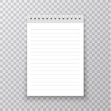Realistic Notebook mockup. Copybook with metallic silver spiral. Blank mock up with shadow. Vector illustration. - 220708488