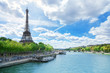 Leinwanddruck Bild - View of Paris with Eiffel tower