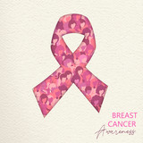 Breast Cancer Care cutout pink ribbon for help - 220710206