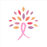 Breast Cancer Awareness pink ribbon tree concept - 220710243