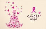 Breast Cancer Awareness pink butterfly yoga design - 220710483
