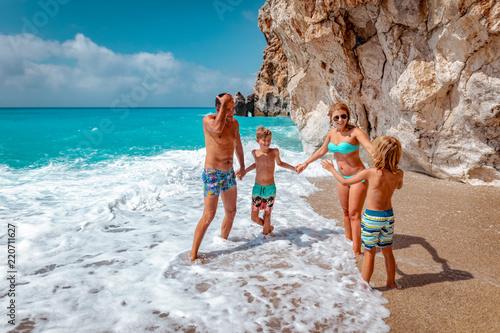 Foto Murales Family Beach Time