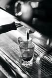 making espresso coffee close up detail with modern machine - 220712239