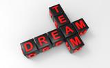 3D render - dream team blocks crosswords - 220739810