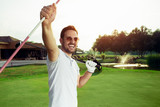 Golfer enjoying a day on the course - 220747409