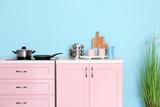 Modern furniture in kitchen - 220752069