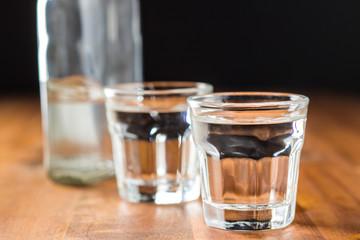 Vodka in shot glass.