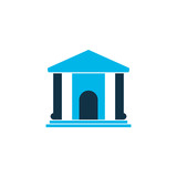 Library icon colored symbol. Premium quality isolated museum element in trendy style. - 220757092
