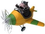 Fun hippo - 3D Illustration - 220759471
