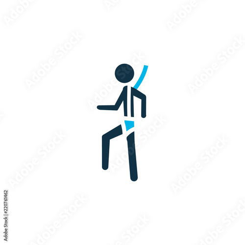 Safety Harness Icon Colored Symbol Premium Quality Isolated Climber