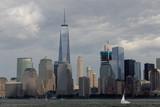 Freedom Tower Lower Manhattan Skyline with Sailboat - 220768095