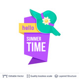 Summer badge isolated on white. - 220776299