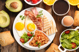 full healthy breakfast composition