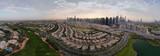 Dubai - sunset city, drone view