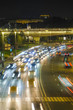 Moscow, Russia - September, 3, 2018: night traffic in Moscow, Russia