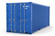 Leinwanddruck Bild - 3D Illustration blauer Container aks Illustration